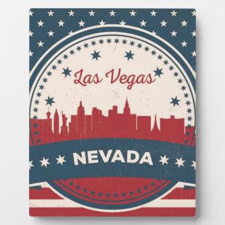 Placa Expositora Horizonte retro de Las Vegas