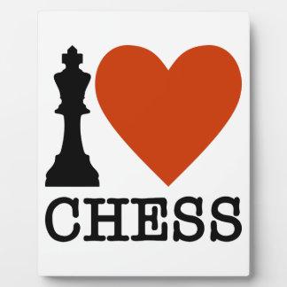 Placa Expositora I ajedrez del corazón