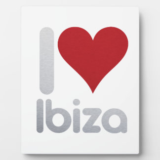 PLACA EXPOSITORA I LOVE IBIZA