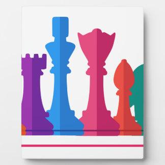 Placa Expositora Juego de ajedrez