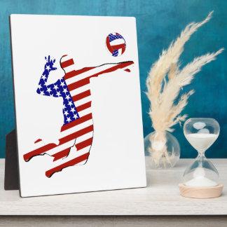 Placa Expositora Jugador de voleibol Todo-Americano