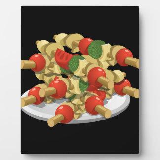 Placa Expositora Kebabs estupendos del veggie de la comida de la