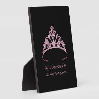 Placa Expositora La corona de color de malva de la tiara de Srta.