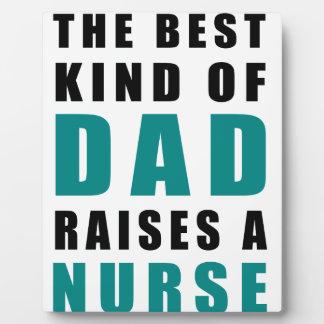Placa Expositora la mejor clase de papá cría a una enfermera