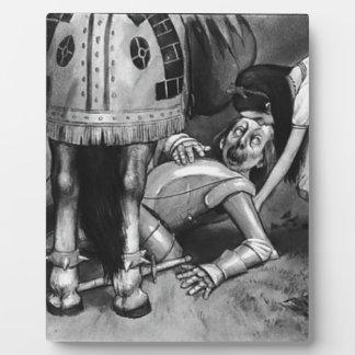 Placa Expositora Las caídas del caballero blanco
