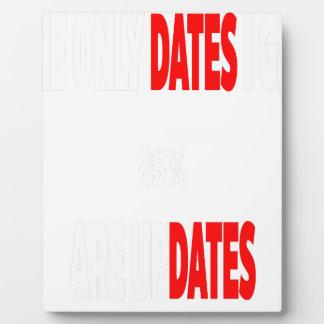 Placa Expositora Las únicas fechas que consigo son actualizaciones