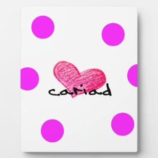 Placa Expositora Lengua Galés del diseño del amor