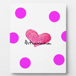 Placa Expositora Lengua malgache del diseño del amor