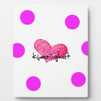 Placa Expositora Lengua noruega del diseño del amor