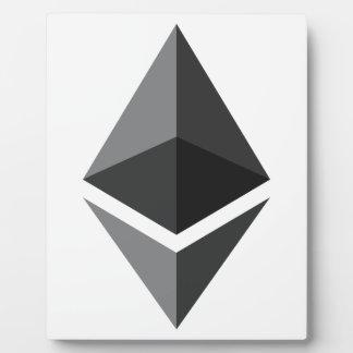 Placa Expositora Logotipo de Ethereum solamente