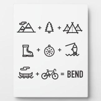 Placa Expositora Logotipo de la ecuación de las actividades de