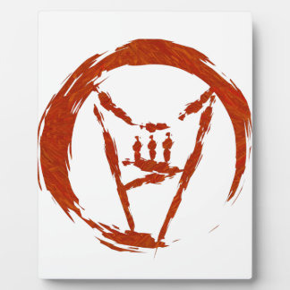 Placa Expositora Logotipo de metales pesados del universo