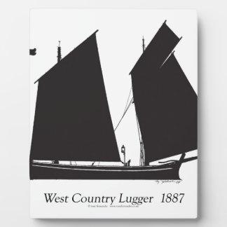 Placa Expositora lugger del país del oeste 1887 - fernandes tony