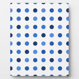 Placa Expositora Lunares azules