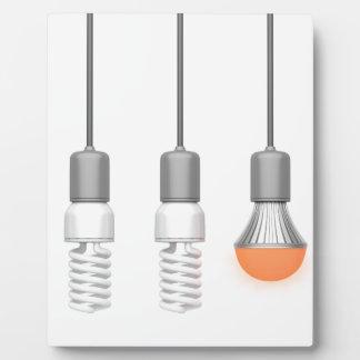 Placa Expositora Luz única del LED que brilla intensamente