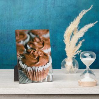 Placa Expositora Magdalenas heladas chocolate en una foto de la