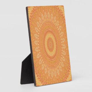 Placa Expositora Mandala anaranjada
