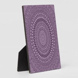 Placa Expositora Mandala de color de malva