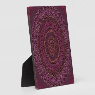 Placa Expositora Mandala púrpura oscura