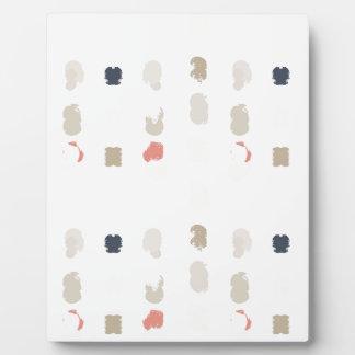 Placa Expositora Modelo abstracto de las formas en los colores en