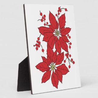 Placa Expositora Modelo rojo del navidad del Poinsettia