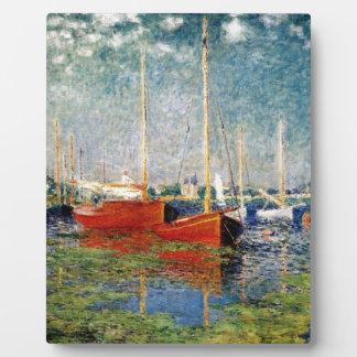 Placa Expositora Monet - los barcos rojos Argenteuil
