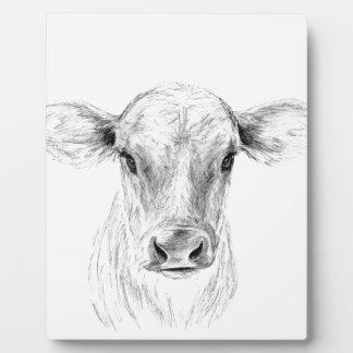 Placa Expositora MOO una vaca joven del jersey