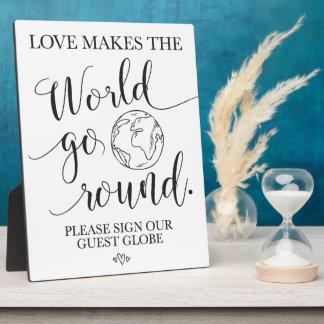 Placa Expositora Muestra de la tabla del boda del globo de la
