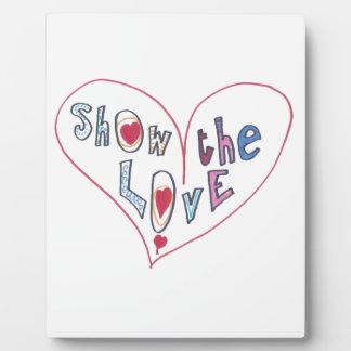 Placa Expositora Muestre el amor