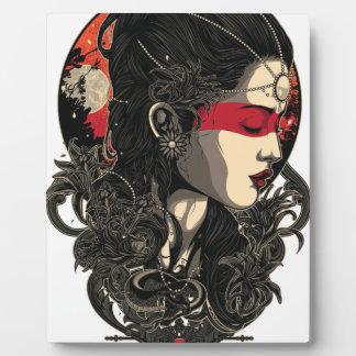Placa Expositora Mujer del sol naciente