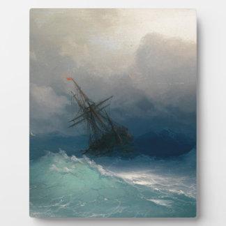 Placa Expositora Nave en los mares tempestuosos, Ivan Aivazovsky -