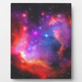 Placa Expositora Nebulosa abstracta de la nube de Magellanic