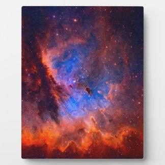 Placa Expositora Nebulosa galáctica abstracta con la nube cósmica -