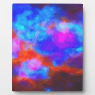 Placa Expositora Nebulosa galáctica abstracta con la nube cósmica