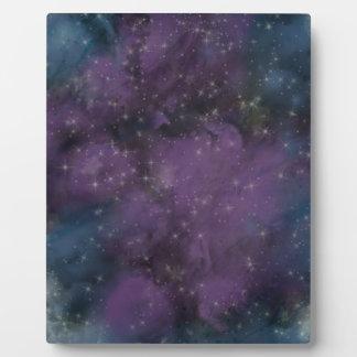 Placa Expositora Nebulosa púrpura de la galaxia