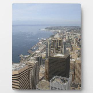 Placa Expositora Opinión de Arial de Seattle