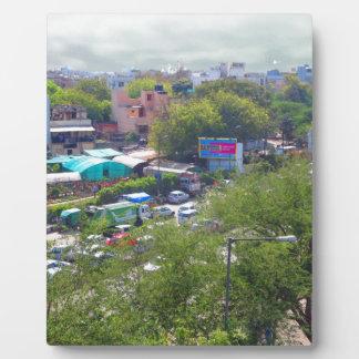 Placa Expositora Opiniones del tráfico de Nueva Deli la India de