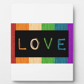 Placa Expositora Orgullo de la etiqueta LBGT del amor y ayuda del