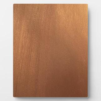 Placa Expositora Para el amor de metálico - luz tenue de cobre