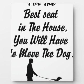 Placa Expositora para mejor Seat de la casa, cita de la vida