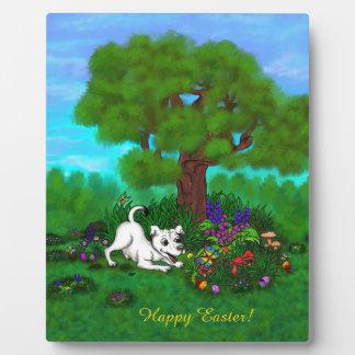 Placa Expositora Pascua - ceja y mariposa del perrito