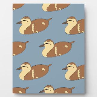 Placa Expositora Patos de la natación