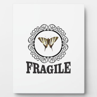 Placa Expositora Pegatina frágil de la mariposa