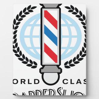 Placa Expositora Peluquería de caballeros de calidad mundial
