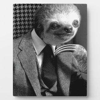 Placa Expositora Pereza del caballero que se sienta en silla de