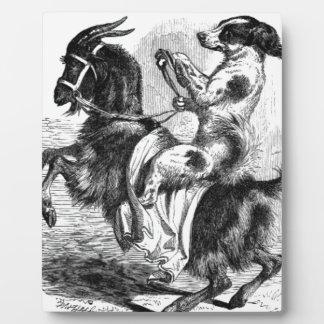 Placa Expositora Perro que monta una cabra