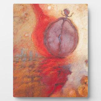Placa Expositora Pintura al óleo del extracto de la danza del fuego