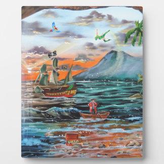 Placa Expositora Pintura de Bell del chapucero de la ensenada del