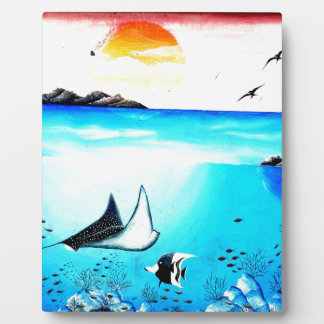 Placa Expositora Pintura de escena subacuática hermosa
