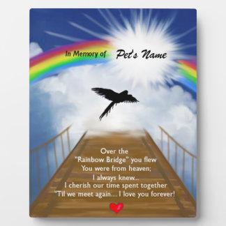 Placa Expositora Poema conmemorativo del puente del arco iris para